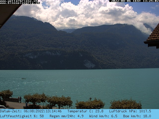 Live Webcam Brienzersee